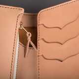 The Flat Head Harness Leather Mid-Wallet w/Coin Compartment - Tan