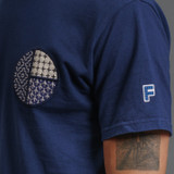 FDMTL Circle Sashiko Indigo T-Shirt