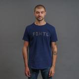 FDMTL Sashiko Logo Indigo T-Shirt
