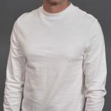 Merz b. Schwanen 2 Thread 216LS Heavyweight Organic LS Mock Neck T Shirt - White