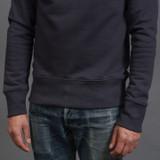 Merz b. Schwanen 346 Heavyweight Crew Neck Sweater – Night Blue