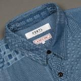 FDMTL Boro S/S Shirt - Faded Indigo