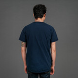 FDMTL Sashiko Circle Indigo T-Shirt