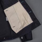 Iron Heart 14 oz Selvedge Denim Modified Type III Jacket - Indigo/Black