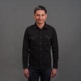 Iron Heart IHSH-234 Heavy Kersey Western Shirt - Black