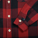 Momotaro 05-288 Herringbone Check Shirt - Red