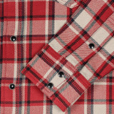 Iron Heart IHSH-259 Small Block Check Ultra Heavy Flannel - Red