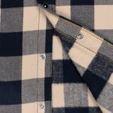 Iron Heart IHSH-267 Buffalo Check Ultra Heavy Flannel - Navy/Ivory