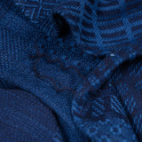Studio D'Artisan Tsugihagi Indigo Jacquard Work Shirt