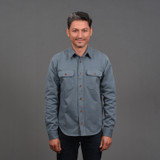 Indigofera Alamo Shirt - Grey Blue
