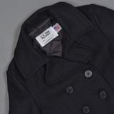 Schott NYC 32 oz Melton Wool Navy Pea Coat