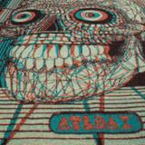 Indigofera Mixtec Calendar Blanket by Björn Atldax in Full Stereoscopic 3D