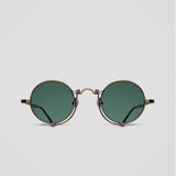 Matsuda 10601H Oval Titanium Sunglasses - Antique Gold
