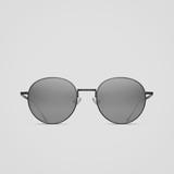 Matsuda M3083 Round Titanium Sunglasses - Matte Black