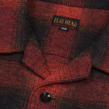 The Flat Head Red Ombré Open Collar Shirt