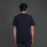 Merz b. Schwanen 214PK Piqué T Shirt - Ink Blue