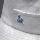 Merz b. Schwanen French Terry Cloth Bucket Hat - White