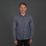 Rogue Territory Santa Fe Indigo Jacquard Shirt