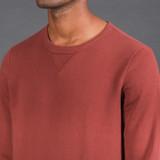 Merz b. Schwanen 346 Heavyweight Crew Neck Sweater - Barn Red