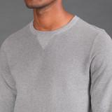 Merz b. Schwanen 3S48 Heavyweight Crew Neck Sweater - Anthra Mel
