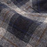 Rogue Territory BM Shirt Grey Herringbone Plaid