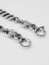 """Good Art Curb Chain #6 Wallet Chain 15"""" - Sterling Silver"""