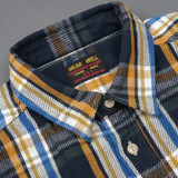 UES Heavy Selvedge Flannel - Navy/Mustard Check