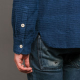 3sixteen Indigo Handloom Crosscut Flannel