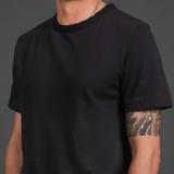 Merz b. Schwanen 2 Thread 214 Heavyweight Organic T Shirt - Charcoal