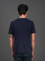 Merz b. Schwanen 2 Thread 214 Heavyweight Organic T Shirt- Ink Blue