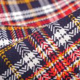 The Flat Head Western Selvedge Flannel  - Orange/Navy