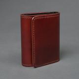 The Flat Head Shinki Cordovan Mini Wallet - Oxblood