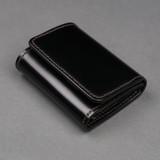 The Flat Head Shinki Cordovan Mini Wallet - Black