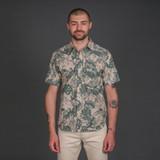 Rogue Territory S/S Oxford Shirt - Green Monstera