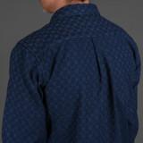 Momotaro 05-299 Kasuri Sashiko Shirt - Indigo