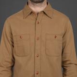 UES Slub Yarn Selvedge Work Shirt - Brown