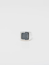 Good Art Flipity Dipity W/22k Shazam on a Sterling Silver Tile W/Goosebumps Obverse Ring - Medium