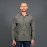 Mister Freedom Snipes Shirt - Drab Olive Cotton Poplin
