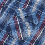 Studio D'Artisan Rope-Dyed Indigo Flannel Shirt