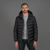 Ten c Hooded Down Liner Jacket - Anthracite Grey
