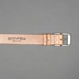 Rivet & Hide Bridle Leather Belt - Natural Oak Bark