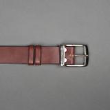 Rivet & Hide Bridle Leather Belt - Australian Nut Oak Bark