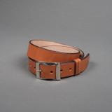 Rivet & Hide Bridle Leather Belt - Light Brown Oak Bark