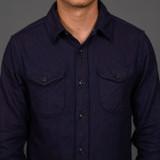 UES Heavy Selvedge Flannel - Indigo