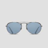 Matsuda M3098 Antique Silver Side Shield Aviator Sunglasses