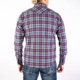 Iron Heart IHSH-309 Classic Check Ultra Heavy Flannel - Purple