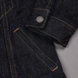 Pure Blue Japan x Rivet & Hide 17.5oz Extra Slub Denim Jacket - Type III