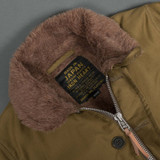 Iron Heart Whipcord Alpaca Lined N1 Deck Jacket - Khaki