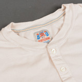 Berry On The Drums - Tubular Long Sleeve Henley - Off White
