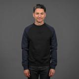 Nine Lives Tsuriurake Loopwheeled Sweater - Black/Navy